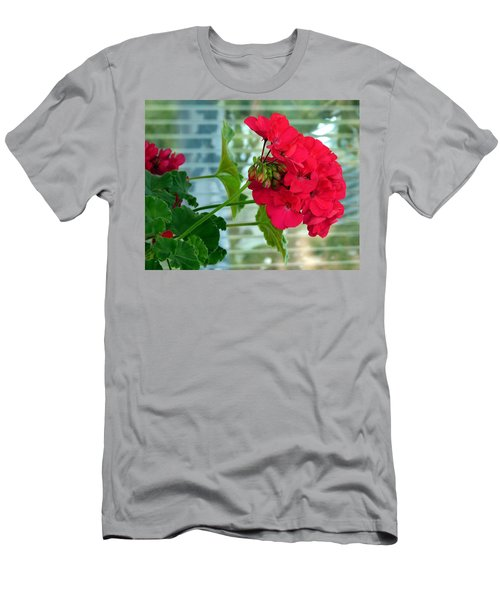 Stunning Red Geranium Men's T-Shirt (Athletic Fit)
