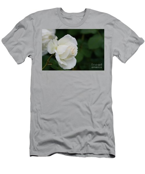 Stunning White Tineke Rose Men's T-Shirt (Athletic Fit)