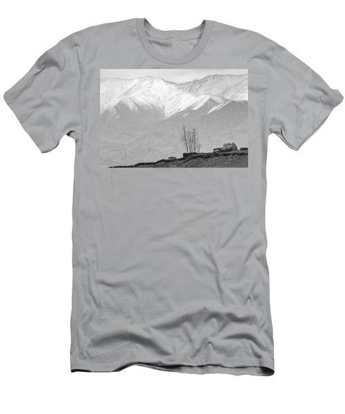 Stupa And Trees Men's T-Shirt (Slim Fit)
