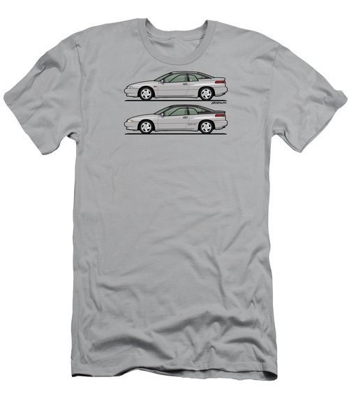 Subaru Alcyone Svx Duo Liquid Silver Men's T-Shirt (Athletic Fit)