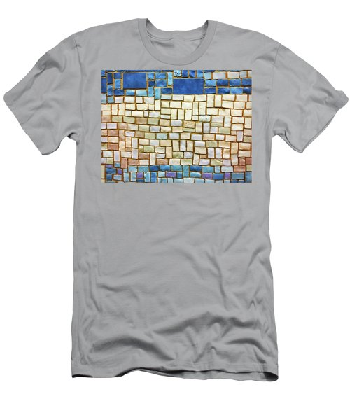 Subway Tile No. 43-1 Men's T-Shirt (Slim Fit) by Sandy Taylor