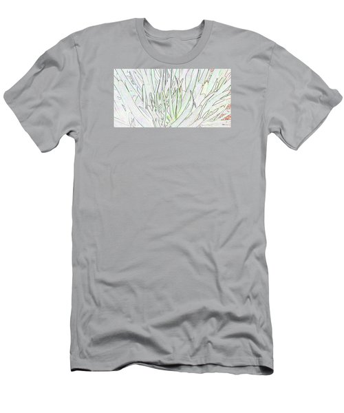 Succulent Leaves In High Key Men's T-Shirt (Slim Fit) by Nareeta Martin