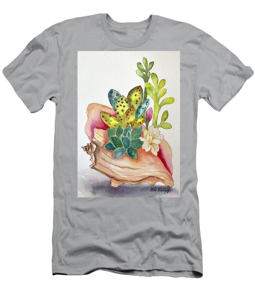 Succulents In Shell Men's T-Shirt (Athletic Fit)