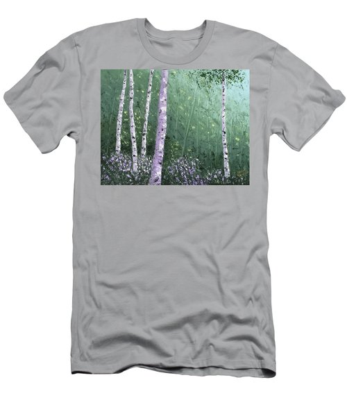 Summer Birch Trees Men's T-Shirt (Athletic Fit)