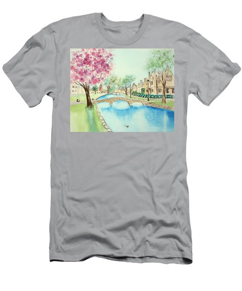 Men's T-Shirt (Athletic Fit) featuring the painting Summer In Bourton by Elizabeth Lock