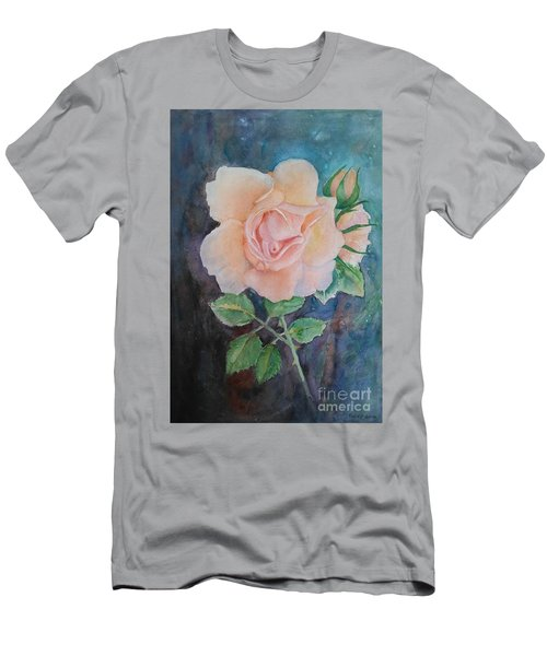 Summer Rose - Painting Men's T-Shirt (Slim Fit) by Veronica Rickard