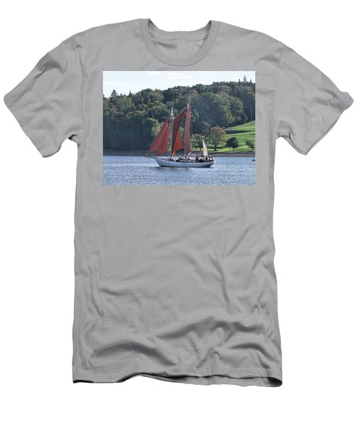 Summer Sailing In Lunenburg Men's T-Shirt (Athletic Fit)