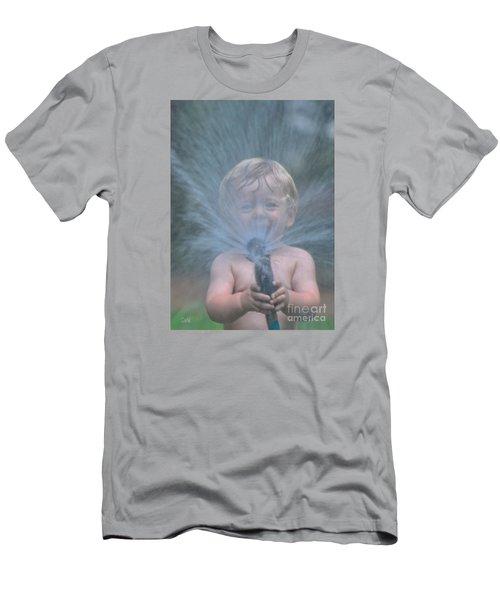Summer Shower Men's T-Shirt (Slim Fit) by Sami Martin
