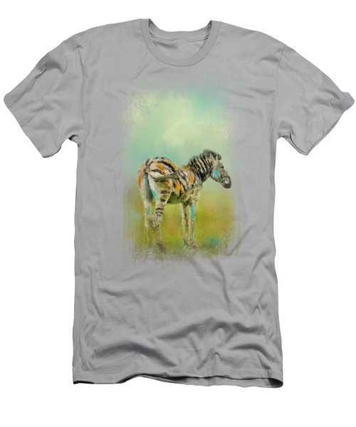 Summer Zebra 1 Men's T-Shirt (Athletic Fit)