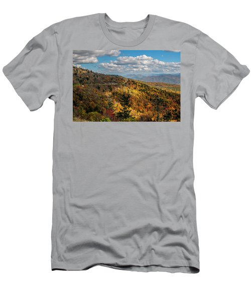 Sun Dappled Mountains Men's T-Shirt (Athletic Fit)