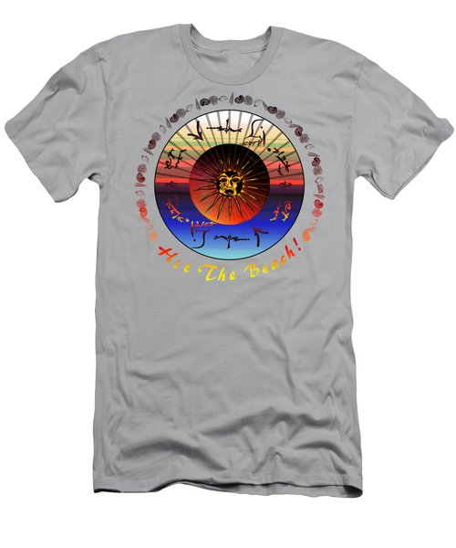 Men's T-Shirt (Slim Fit) featuring the drawing Sun Face Stylized by Robert  G Kernodle