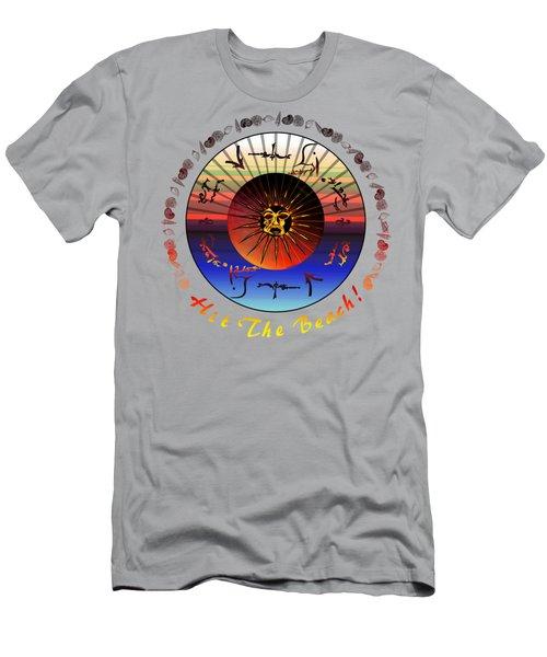 Sun Face Stylized Men's T-Shirt (Athletic Fit)