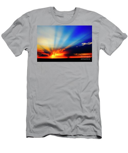 Men's T-Shirt (Athletic Fit) featuring the photograph Sun Rays by Scott Kemper