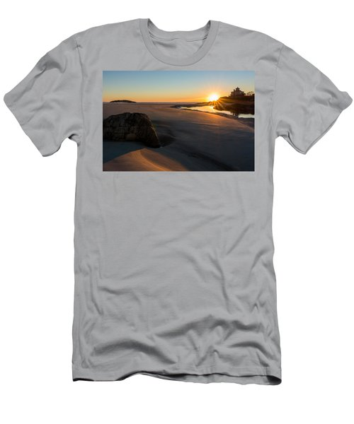 Men's T-Shirt (Athletic Fit) featuring the photograph Sun Up Good Harbor by Michael Hubley