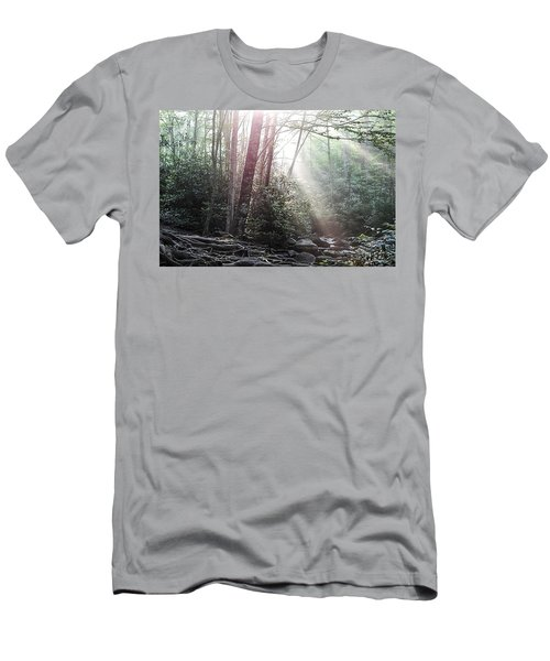 Sunbeam Streaming Into The Forest Men's T-Shirt (Athletic Fit)