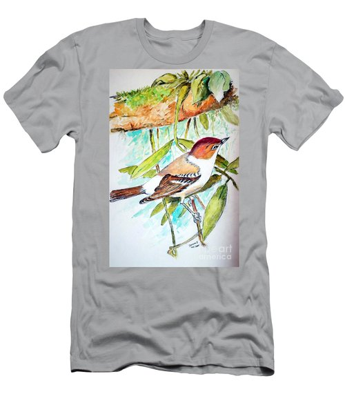 Sunda Flycatcher- Warbler Men's T-Shirt (Athletic Fit)