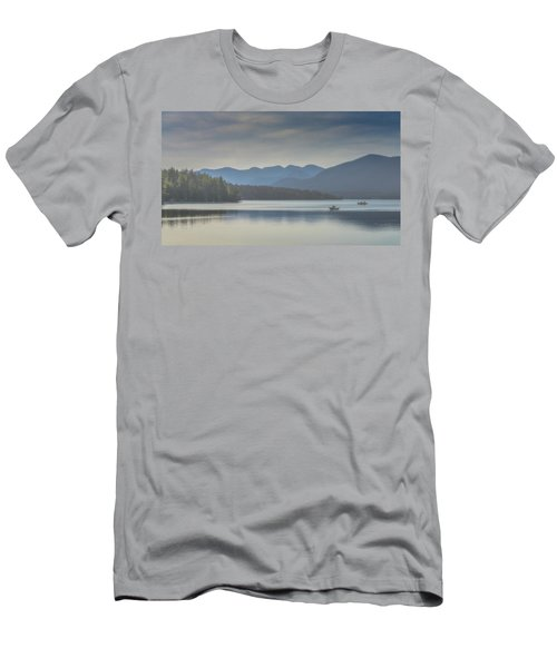 Men's T-Shirt (Slim Fit) featuring the photograph Sunday Morning Fishing by Chris Lord
