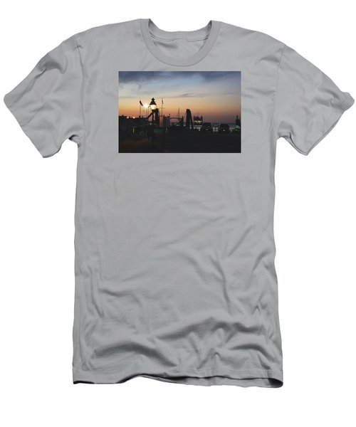 Men's T-Shirt (Slim Fit) featuring the photograph Sundown At The Harbor by Margie Avellino