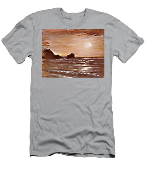 Men's T-Shirt (Slim Fit) featuring the painting Sundown Glow by Desline Vitto