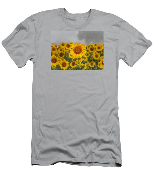 Sunflower In The Fog Men's T-Shirt (Athletic Fit)