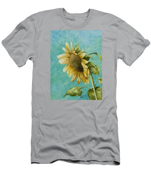 Sunflower Number One Men's T-Shirt (Athletic Fit)