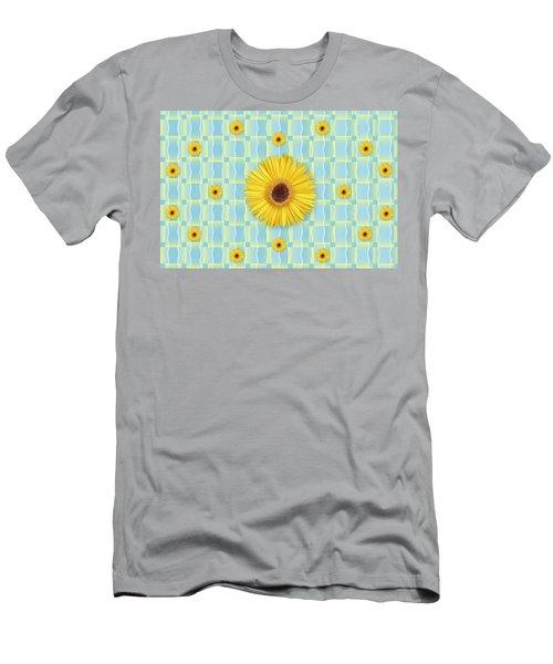Sunflower Pattern Men's T-Shirt (Athletic Fit)