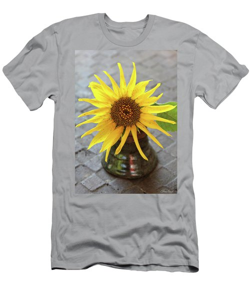Men's T-Shirt (Athletic Fit) featuring the photograph Sunflower Portrait by Trina Ansel