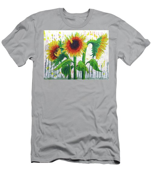 Sunflower Sonata Men's T-Shirt (Athletic Fit)