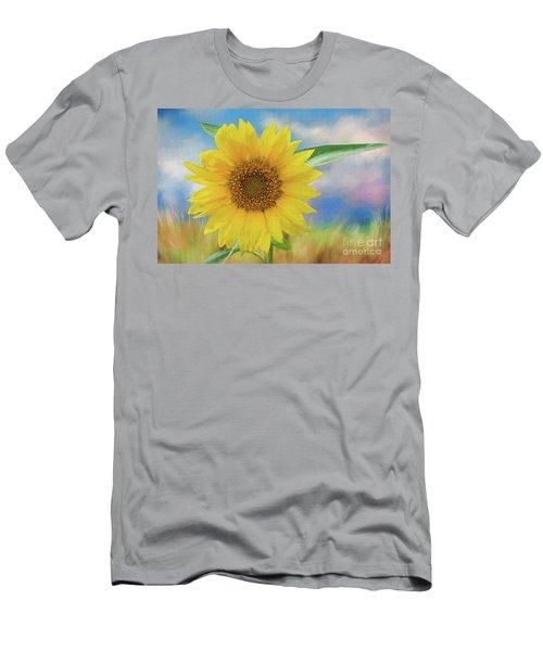 Sunflower Surprise Men's T-Shirt (Slim Fit) by Bonnie Barry