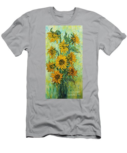 Sunflowers For This Summer Men's T-Shirt (Athletic Fit)