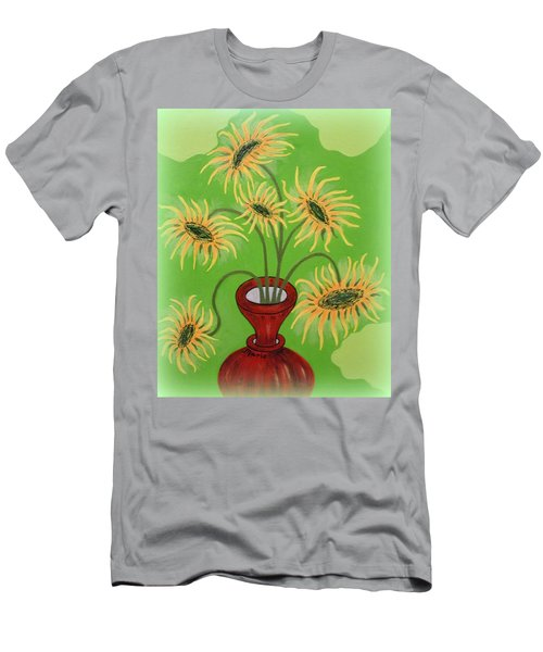 Sunflowers On Green Men's T-Shirt (Athletic Fit)