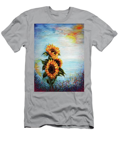 Sunflowers - Where Ocean Meets The Sky Men's T-Shirt (Athletic Fit)