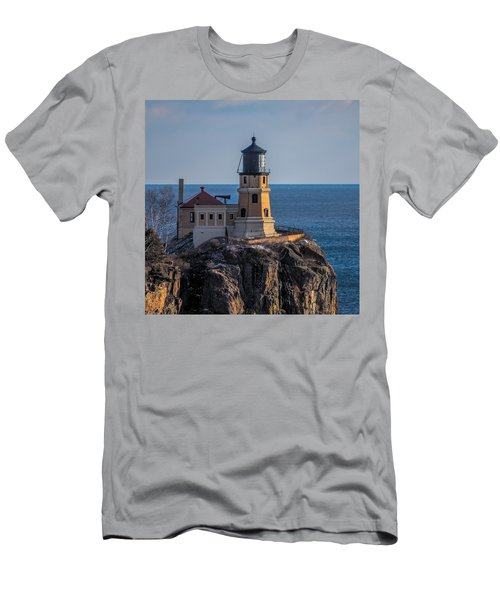 Sunlight On Split Rock Lighthouse Men's T-Shirt (Athletic Fit)