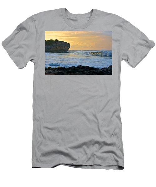 Sunlit Waves - Kauai Dawn Men's T-Shirt (Athletic Fit)