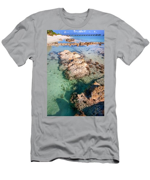 Men's T-Shirt (Athletic Fit) featuring the photograph Sunny Day At Maldivian Resort by Jenny Rainbow