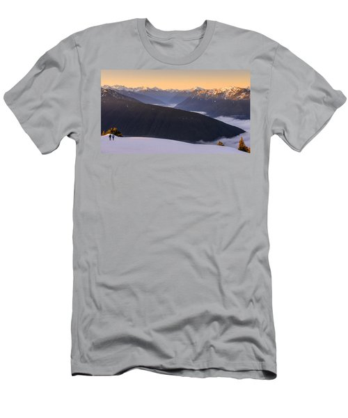 Men's T-Shirt (Slim Fit) featuring the photograph Sunrise Above The Clouds by Dan Mihai