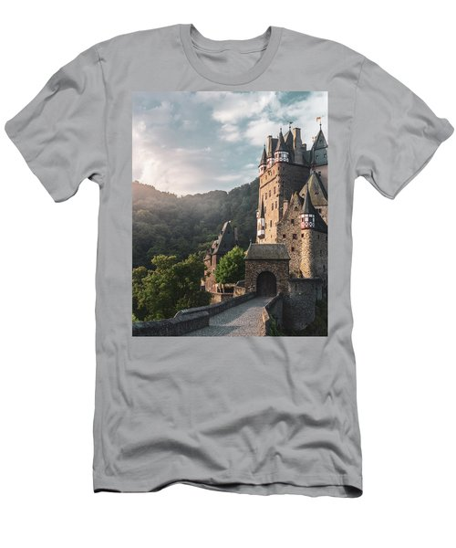Sunrise At Castle Eltz, Germany Men's T-Shirt (Athletic Fit)