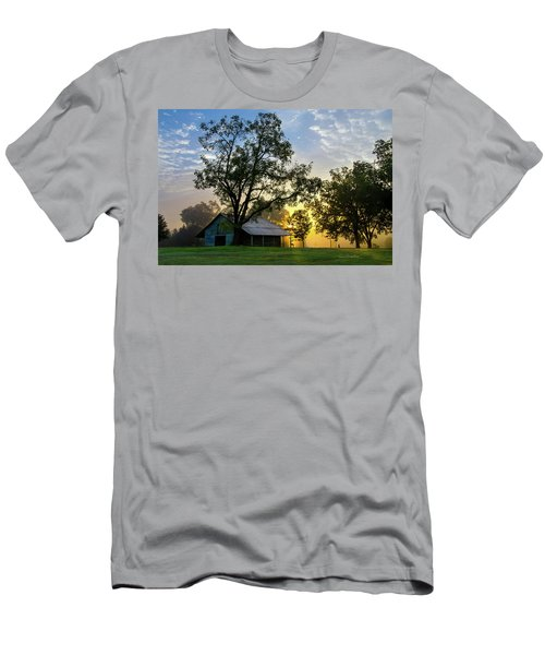 Sunrise At The Farm Men's T-Shirt (Slim Fit) by George Randy Bass