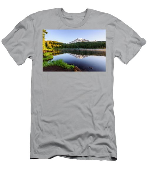 Mount Rainier Viewed From Reflection Lake Men's T-Shirt (Athletic Fit)