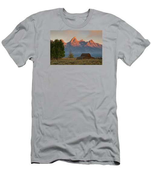 Men's T-Shirt (Slim Fit) featuring the photograph Sunrise In Jackson Hole by Steve Stuller