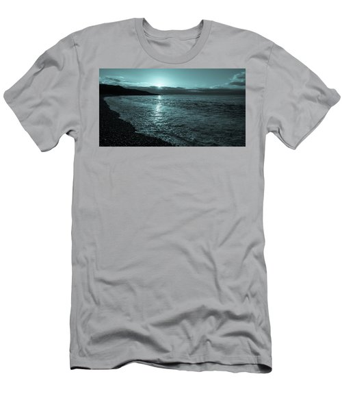 Sunrise In Stonehaven B-w Men's T-Shirt (Slim Fit) by Sergey Simanovsky