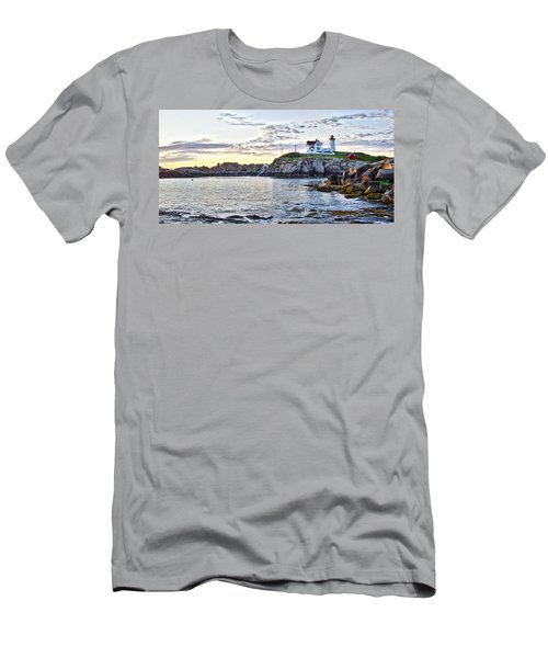 Sunrise Nubble Lighthouse - York - Maine Men's T-Shirt (Athletic Fit)
