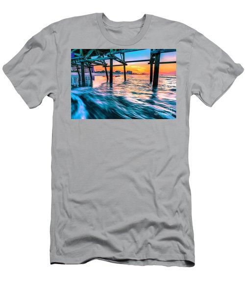 Sunrise Under Cherry Grove Pier Men's T-Shirt (Athletic Fit)