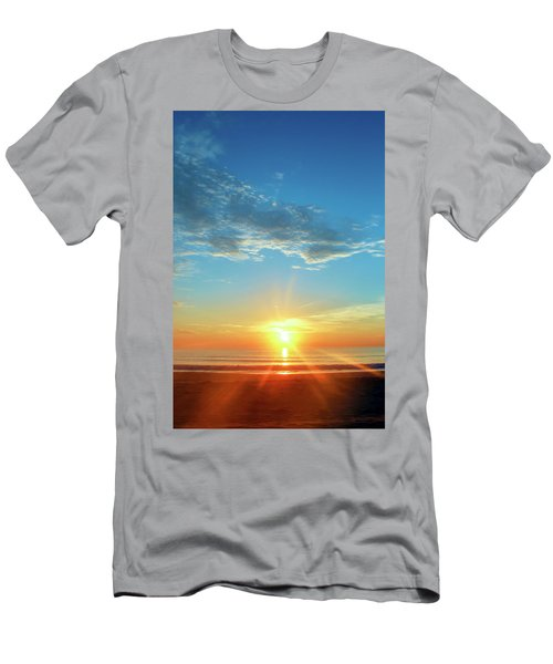 Sunrise With Flare Men's T-Shirt (Slim Fit) by David Stasiak