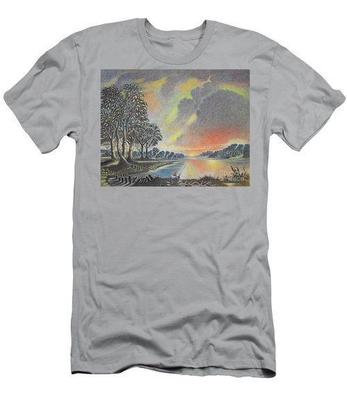 Sunset Angler Men's T-Shirt (Athletic Fit)