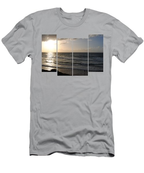 Sunset At Jaffa Beach T-shirt 2 Men's T-Shirt (Slim Fit) by Isam Awad
