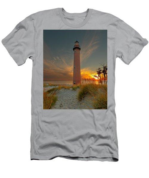 Sunset At Petite Pointe Au Sable Men's T-Shirt (Athletic Fit)