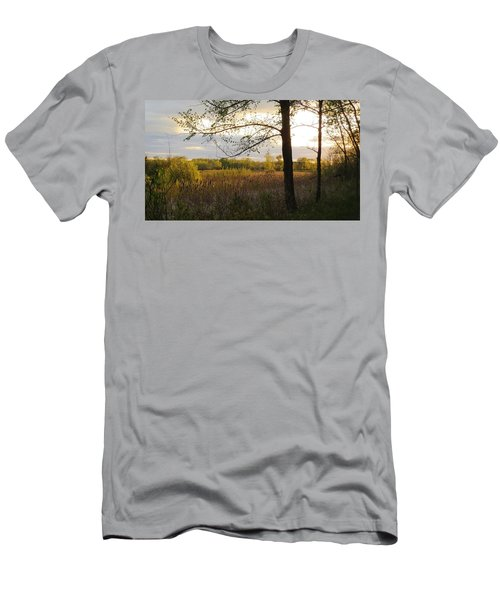 Sunset At Scuppernong II Men's T-Shirt (Slim Fit) by Kimberly Mackowski