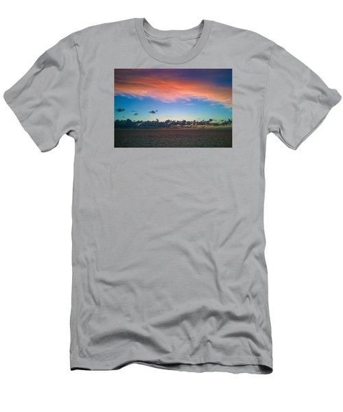 Men's T-Shirt (Slim Fit) featuring the photograph Sunset At Sea by Matthew Bamberg