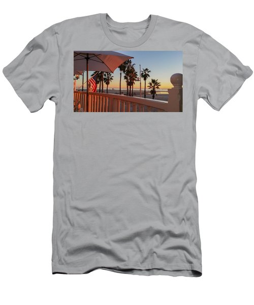 Sunset At Shutters Men's T-Shirt (Slim Fit) by Mark Barclay